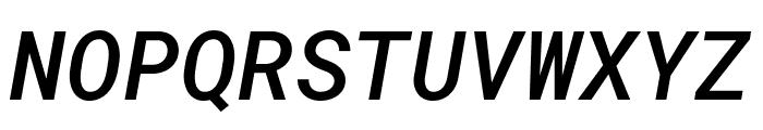 Roboto Mono Medium Italic Font UPPERCASE
