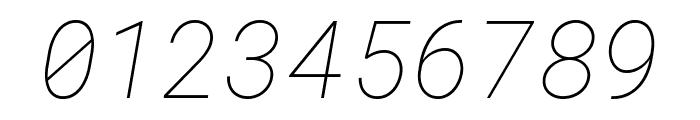 Roboto Mono Thin Italic Font OTHER CHARS