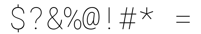 Roboto Mono Thin Font OTHER CHARS