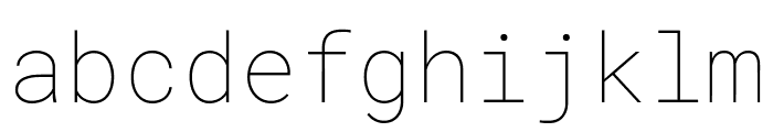 Roboto Mono Thin Font LOWERCASE
