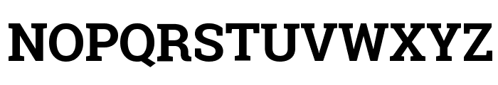 Roboto Slab Bold Font UPPERCASE