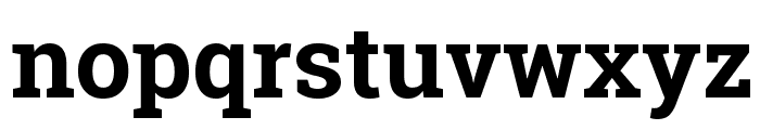 Roboto Slab Bold Font LOWERCASE