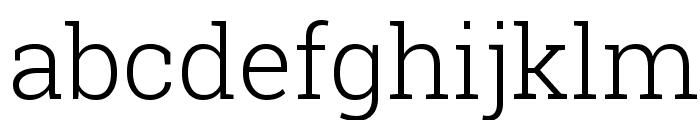 Roboto Slab Light Font LOWERCASE