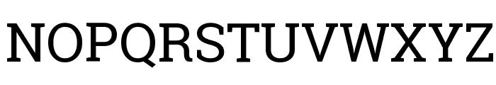 Roboto Slab Regular Font UPPERCASE