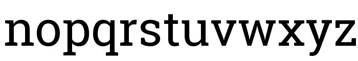 Roboto Slab Regular Font LOWERCASE