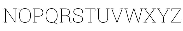 Roboto Slab Thin Font UPPERCASE