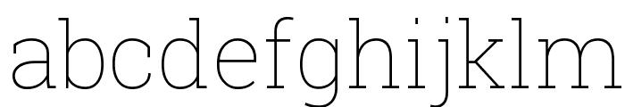 Roboto Slab Thin Font LOWERCASE