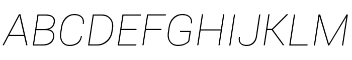 Roboto Thin Italic Font UPPERCASE
