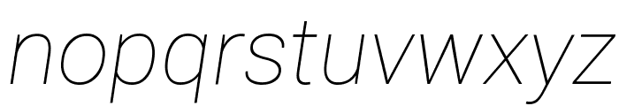 Roboto Thin Italic Font LOWERCASE