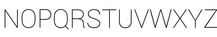 Roboto Thin Font UPPERCASE