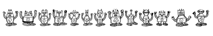 Robotter Regular Font UPPERCASE
