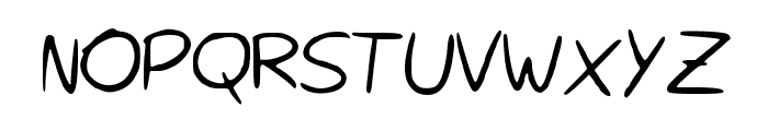 Rocchy__s_handwriting Font UPPERCASE