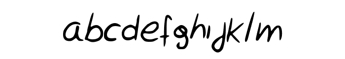 Rocchy__s_handwriting Font LOWERCASE