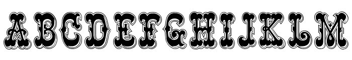Rochester Line Font UPPERCASE