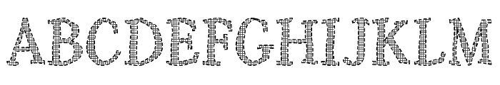 Rochester Thee Font UPPERCASE