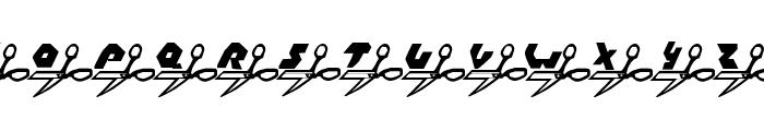 Rock, Paper, Scissors Font UPPERCASE