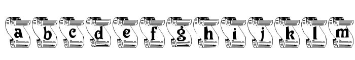 Rock, Paper, Scissors Font LOWERCASE