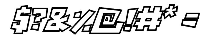RockBiterOutlines Italic Font OTHER CHARS
