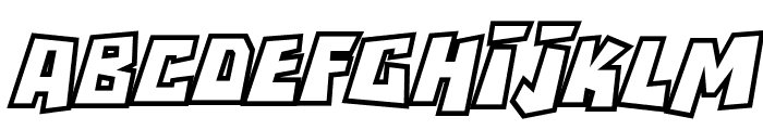 RockBiterOutlines Italic Font UPPERCASE