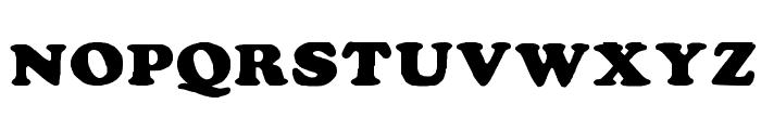 Rockletter Simple Font UPPERCASE