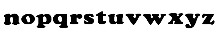 Rockletter Simple Font LOWERCASE