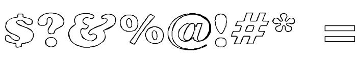 Rockletter Transparent Font OTHER CHARS