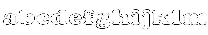 Rockletter Transparent Font LOWERCASE