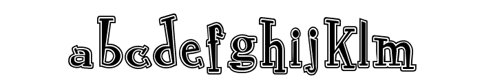 RocknRollTypoCollege Font LOWERCASE