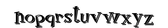 RocknRollTypoShadow Font LOWERCASE