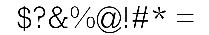 RockyLight Font OTHER CHARS