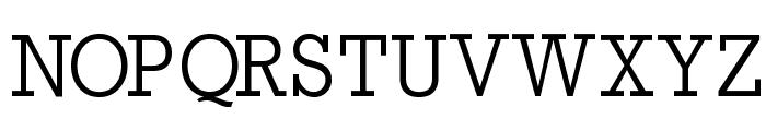 RockyRegular Font UPPERCASE