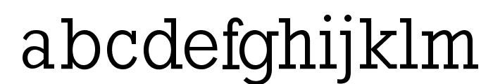 RockyRegular Font LOWERCASE