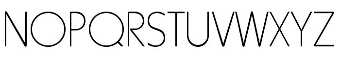 RockyThinOpti Font UPPERCASE