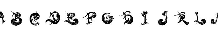 RococoCoquete Font LOWERCASE