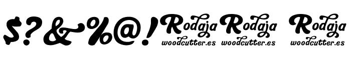 Rodaja Font OTHER CHARS