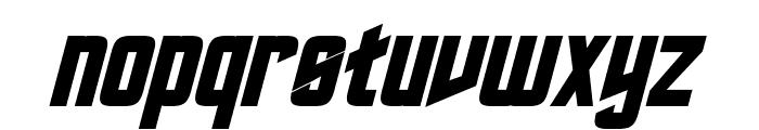 Roddenberry Bold Italic Font LOWERCASE