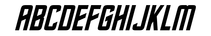 Roddenberry Italic Font UPPERCASE