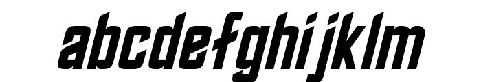 Roddenberry Oblique Font LOWERCASE