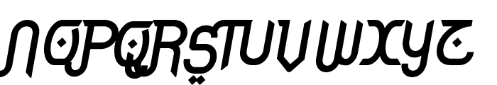 Rodja Bold Alt Slanted Font UPPERCASE