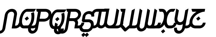 Rodja Bold Slanted Font UPPERCASE