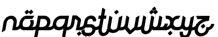 Rodja Bold Slanted Font LOWERCASE