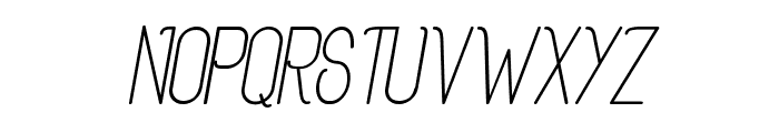 Rogaton Italique Font UPPERCASE