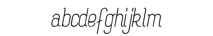 Rogaton Italique Font LOWERCASE