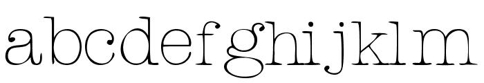 Rogers Typewriter Font LOWERCASE