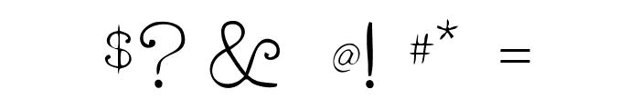 RogersTypewriter Light Font OTHER CHARS