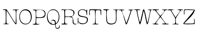 RogersTypewriter Light Font UPPERCASE