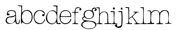 RogersTypewriter Light Font LOWERCASE