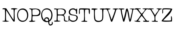 RogersTypewriter Font UPPERCASE