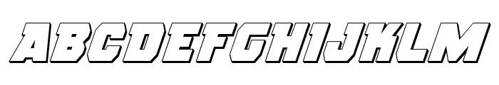 Rogue Hero 3D Italic Font UPPERCASE