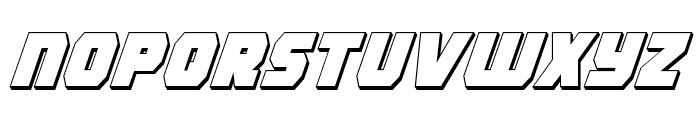 Rogue Hero 3D Italic Font LOWERCASE